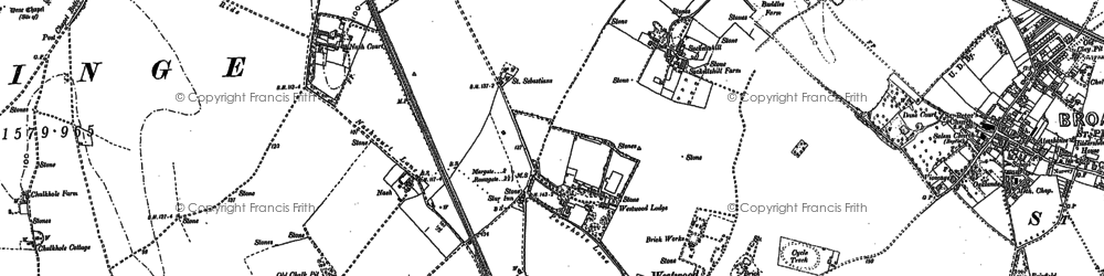 Old map of Westwood in 1905