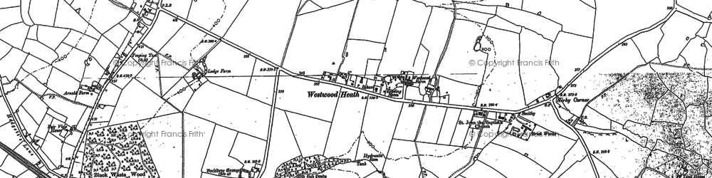 Old map of Westwood Heath in 1886