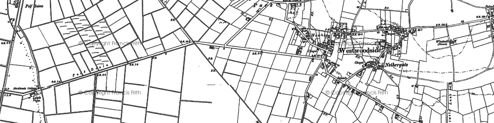 Old map of Westwoodside in 1885
