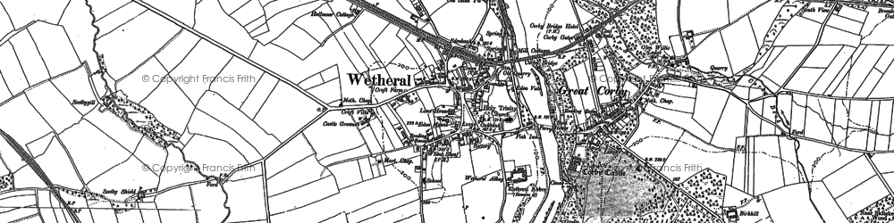 Old map of Wetheral in 1899