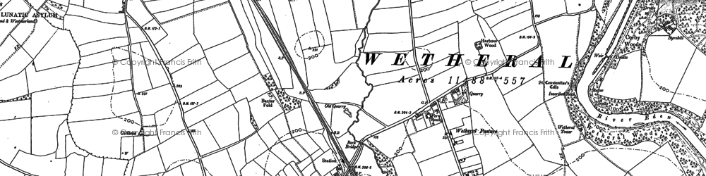 Old map of Wetheral Pasture in 1899
