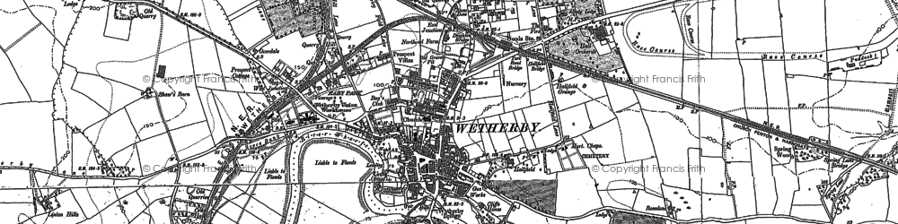 Old map of Wetherby in 1891