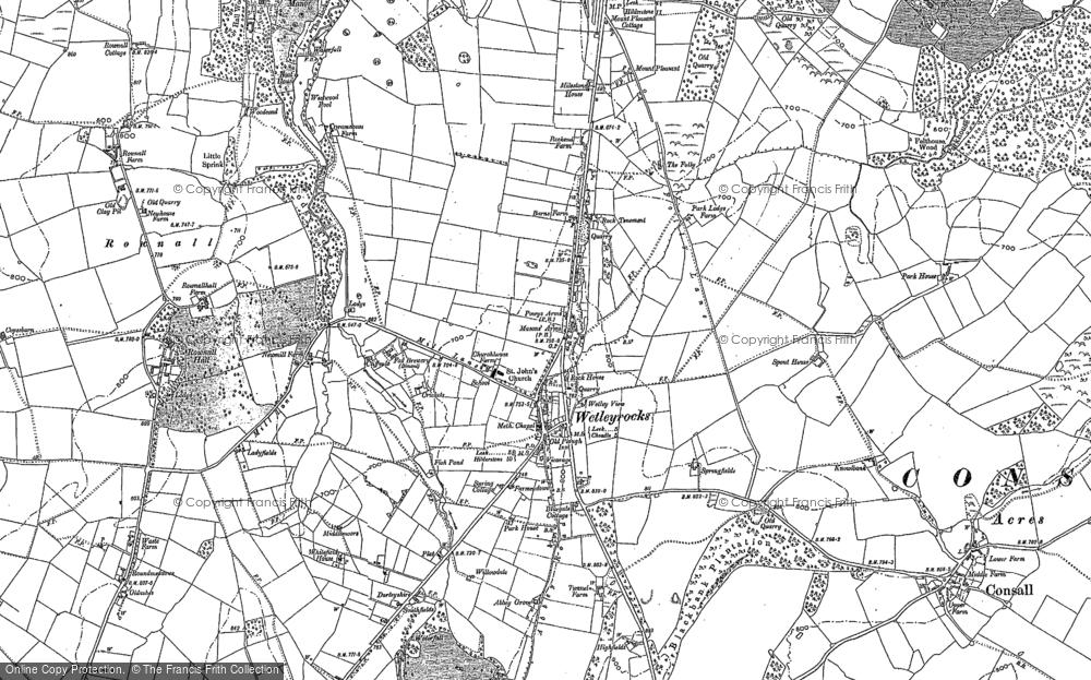 Map of Wetley Rocks, 1879