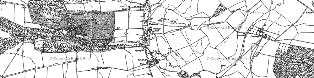 Old map of Wetmore Barn in 1883