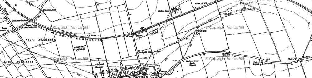 Old map of Wetwang Grange in 1891