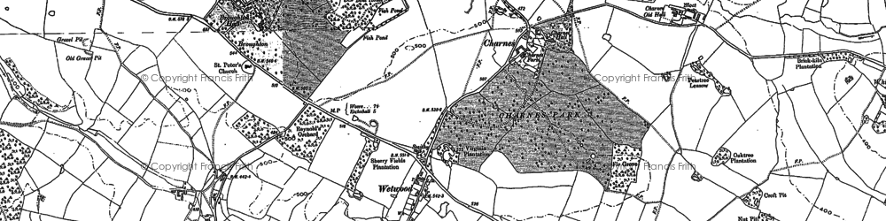 Old map of Wetwood in 1879