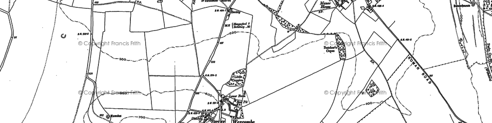 Old map of Wexcombe in 1899