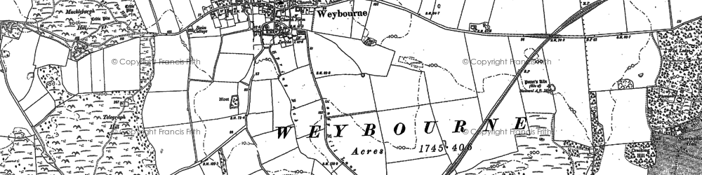 Old map of Weybourne Hope in 1901