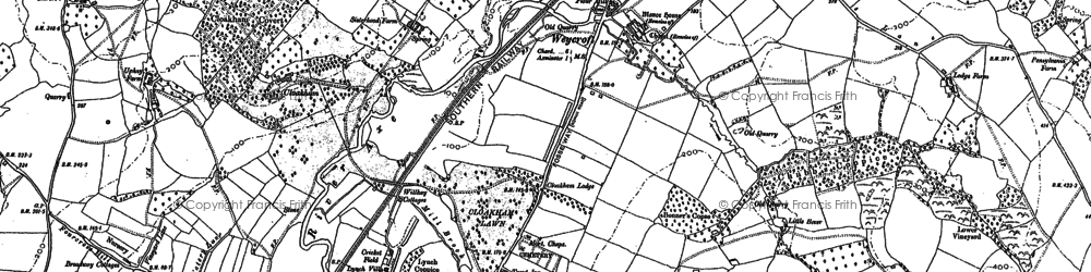 Old map of Weycroft in 1903