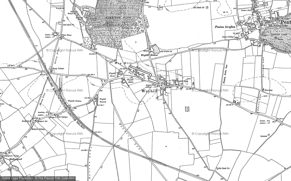 Map of Weyhill, 1894