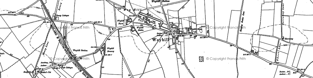 Old map of Weyhill in 1894