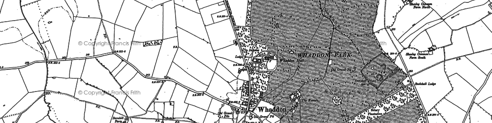 Old map of Whaddon Chase in 1898