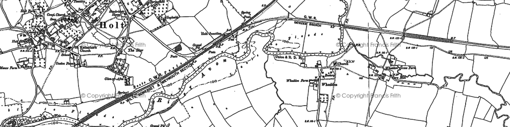 Old map of Whaddon in 1899
