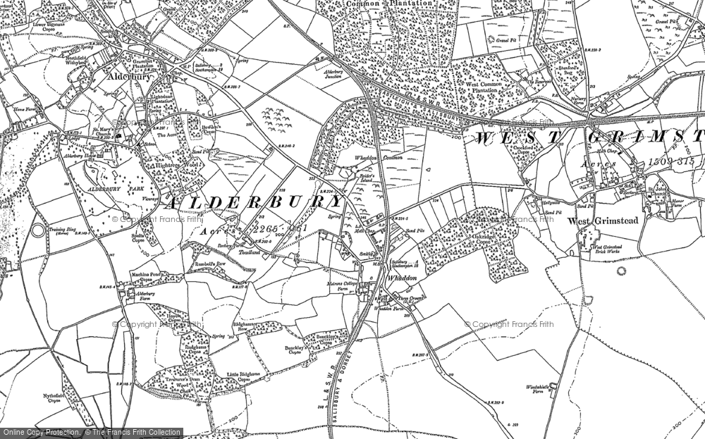 Old Map of Whaddon, 1924 in 1924