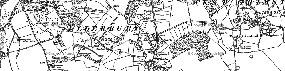 Old map of Whaddon in 1924