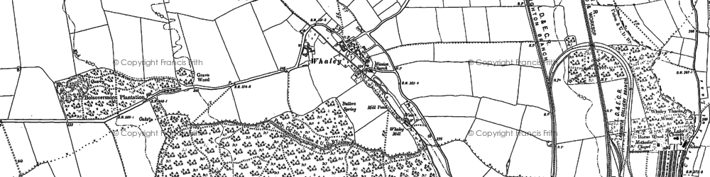 Old map of Whaley Common in 1897