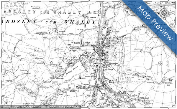 Old Map of Whaley Bridge, 1907 in 1907