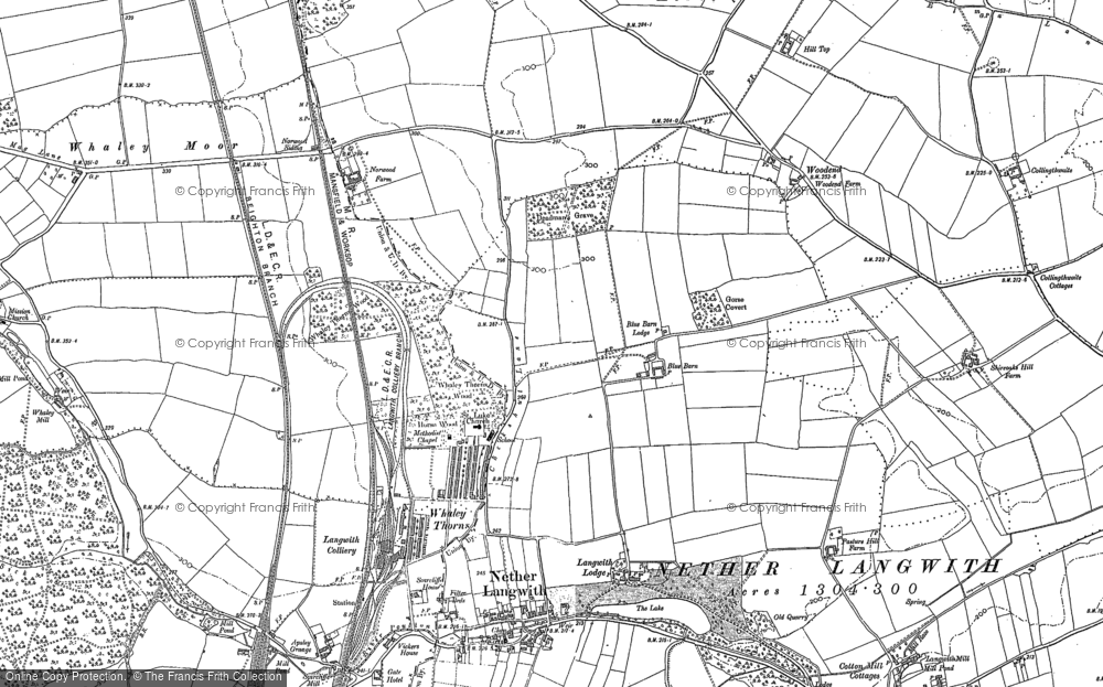 Old Map of Whaley Thorns, 1884 - 1897 in 1884