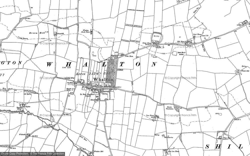 Old Map of Whalton, 1895 - 1896 in 1895