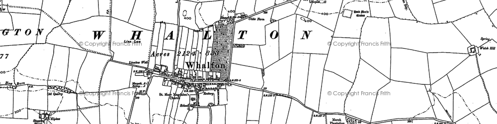 Old map of Whalton in 1895