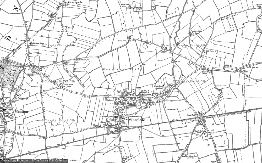 Map of Whaplode, 1887