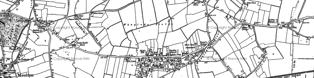 Old map of Whaplode in 1887