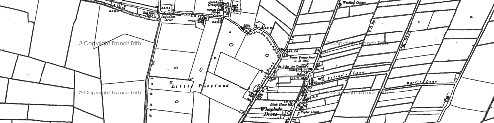 Old map of Whaplode Drove in 1887