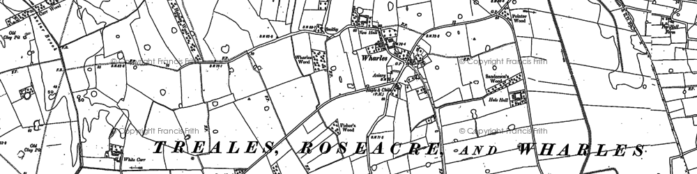 Old map of Wharles in 1892