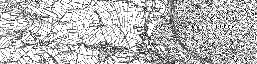 Old map of Wharncliffe Lodge in 1891