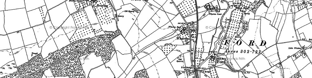 Old map of Wharton Court in 1885