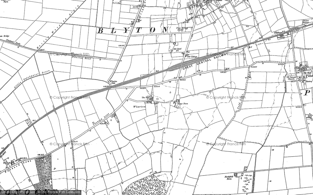 Old Map of Wharton, 1885 in 1885