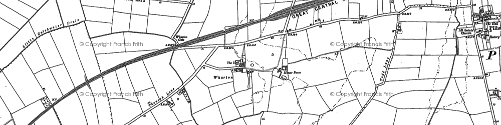 Old map of Wharton Wood in 1885