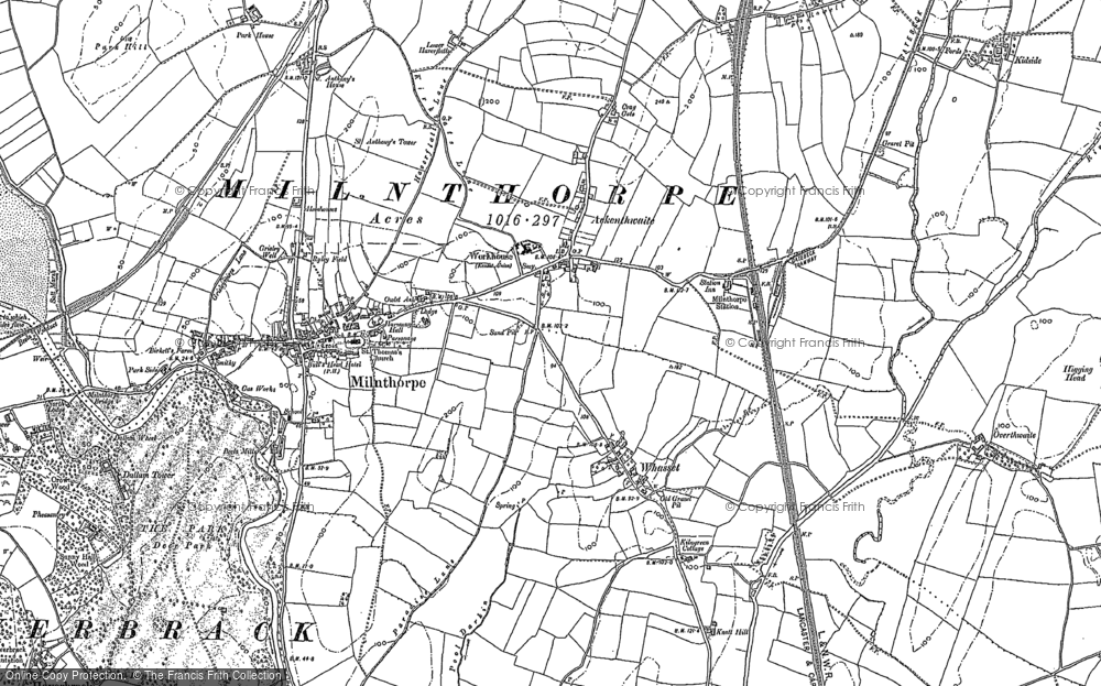 Old Map of Whasset, 1897 - 1911 in 1897