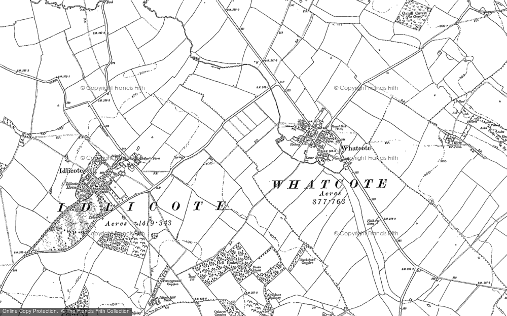 Map of Whatcote, 1885 - 1904