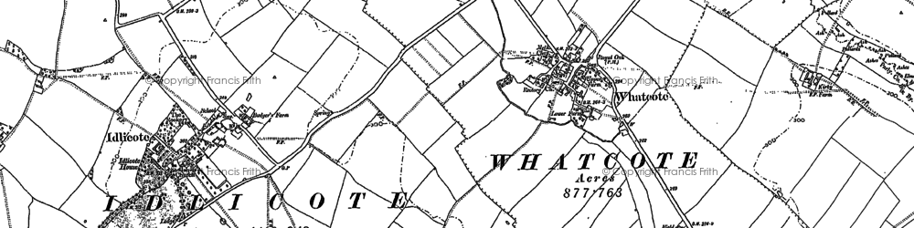 Old map of Whatcote in 1885