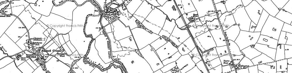 Old map of Whatcroft in 1897