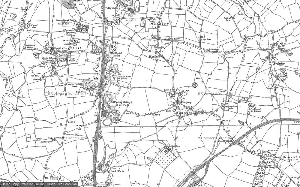 Old Map of Whateley, 1883 - 1887 in 1883