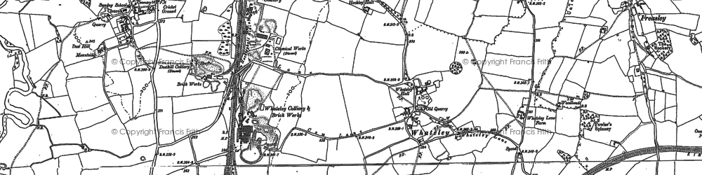 Old map of Whateley in 1883
