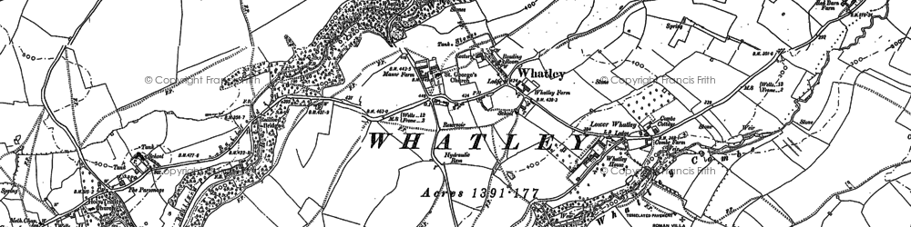 Old map of Whatley in 1884