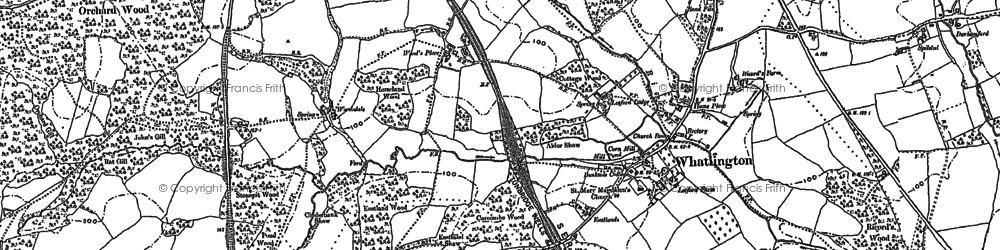 Old map of Whatlington in 1897