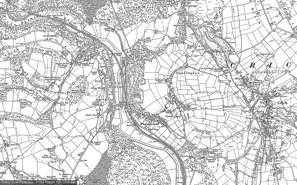 Map of Whatstandwell, 1879