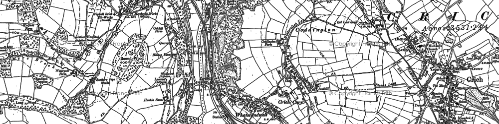 Old map of Whatstandwell in 1879