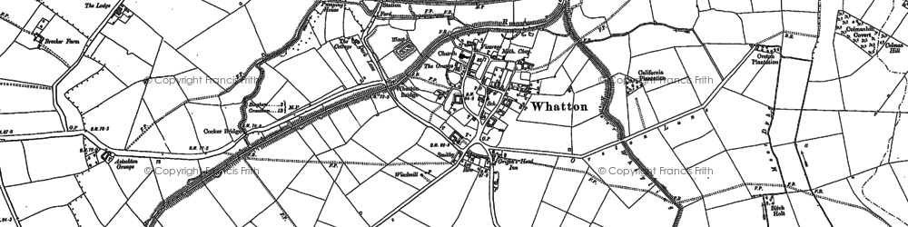Old map of Whatton-in-the-Vale in 1883
