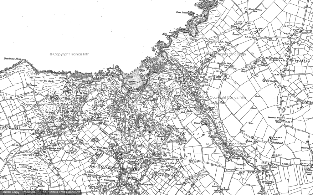 Old Map of Wheal Kitty, 1906 in 1906