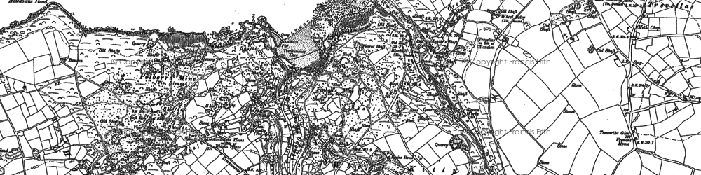 Old map of Wheal Kitty in 1906