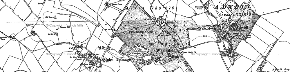 Old map of Wheatfield in 1897