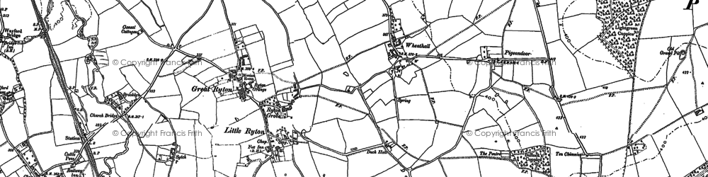 Old map of Lightgreen Coppice in 1882