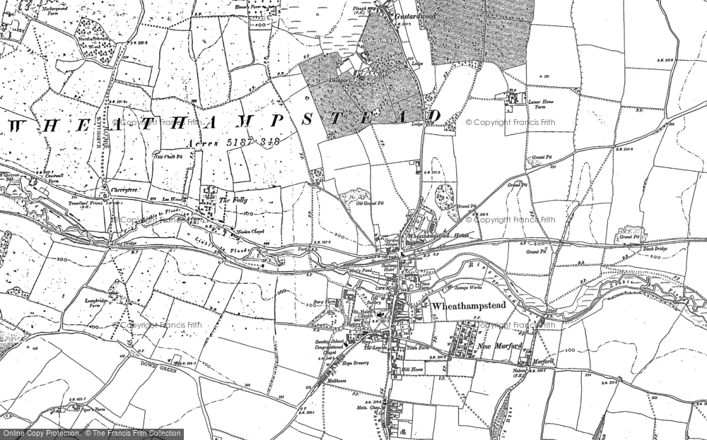Map of Wheathampstead, 1897 - 1899