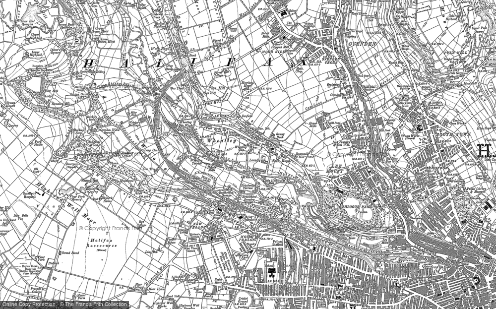 Old Map of Wheatley, 1892 - 1893 in 1892
