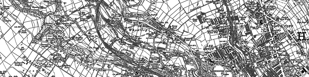 Old map of Wheatley in 1892